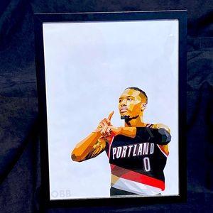 Damian Lillard - Framed NBA Print